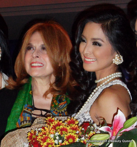 14) Stella Marquez Araneta, chairwoman of Bb. Pilipinas Charities Inc. with Mutya Datul.