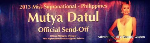 16) Mutya Datul's Send-off Poster-Billboard