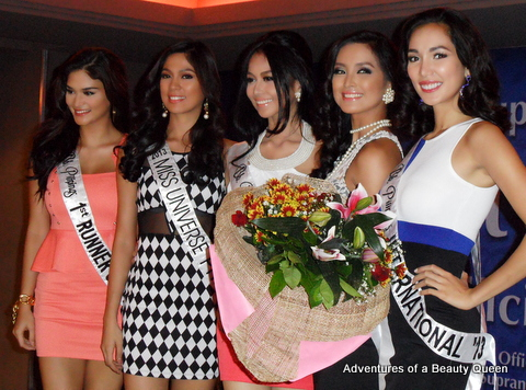 9) Bb. Pilipinas 2013 Court of winners.