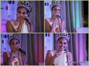 Miss World Philippines 2013 Megan Young gets emo at her send-off...