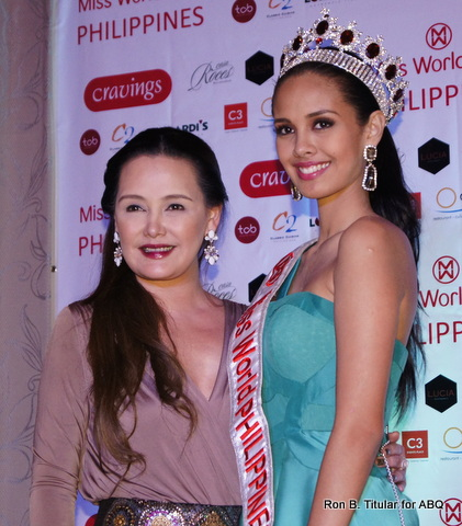 Miss World Philippines 2013 Megan Young with Maricris Albert owner of FILA