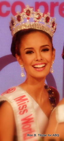The Philippine representative to Miss World 2013, Megan Young