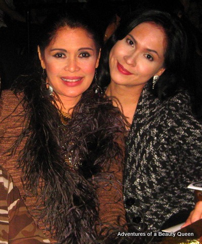 Evangeline Pascual Miss World First Runner-up 1973 (left) with Joyce Burton Titular, the blogging beauty queen
