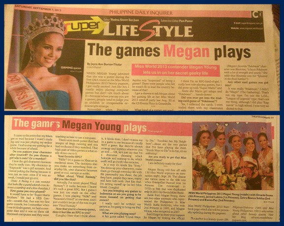 Megan Young Article for Inquirer