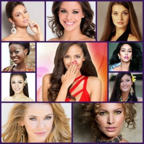 Megan Young of the Philippines (middle) is ABQ's Top CHOICE! Clockwise from top left - Spain, France, Ukraine, India, Moldova, Netherlands, USA, Thailand, Ghana