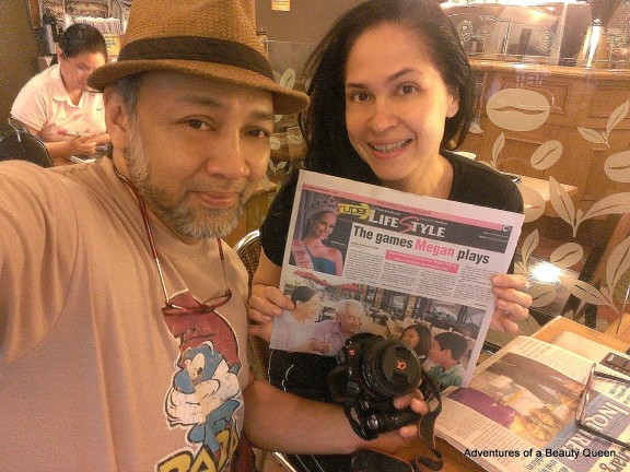 Ron and Joyce Titular with their Megan Young article in the Philippine Daily Inquirer!!! A first for the both of us!!!
