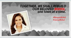 Anna Maris Igpit asks for help in behalf of Boholanos who recently suffered a 7.2 earthquake