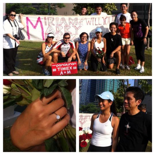 Ardy Roberto's propsal sign for Miriam Quiambao... how sweeeet naman!!!!