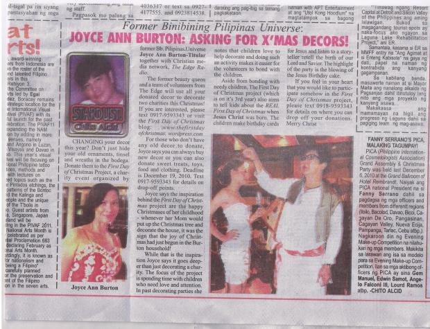 Thank you Chito Alcid for this article... I always remember you fondly...