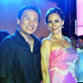 With Raul Gatal during Miss Panglao 2012 in Bohol.