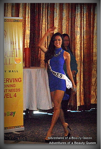 Ara Arida enters the room at her send off party to Miss Universe 2013. This is her winning STRUT!