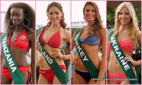 ABQ Awimsuit Favorites - Tanzania's Clara Noor, Thailand's Punika Kunsuntornrat, Turkey's Ezgi Avci, Ukraine's Anatasia Sukh