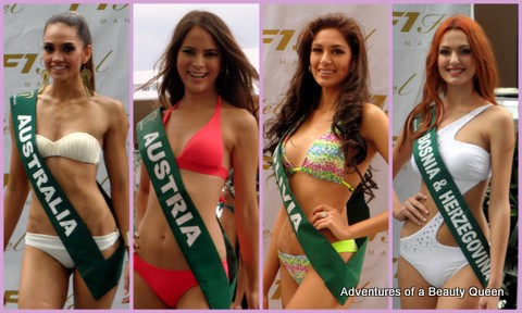 ABQ Swimsuit Favorites - Australia's Renera Thomspon, Austria's Katia Wagner, Bolivia's Maria Rene Carmona and Bosnia & Herzegovina's Vera Kmeta