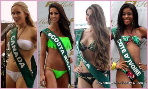 ABQ Swimsuit Favorites - Canada's Sofiya Chorniy, Costa Rica's Mariela Aparicio, Crimea's Maria Makater, Cote D'Ivoire's Bintou Traore
