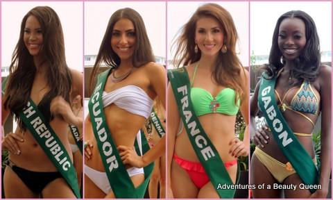 ABQ Swimsuit Favorites - Czech Republic's Monika Leova, Ecuador's Ama Maria Weir, France's Sophie Garenaux, Gabon's Fliane Mayombo Koundi