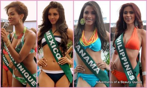 ABQ Swimsuit Favorites - Martinique's Rani Charles, Mexico's Yuselmi Cristal Silva, Panama's Johana Batista, Philippines' Angelee delos Reyes