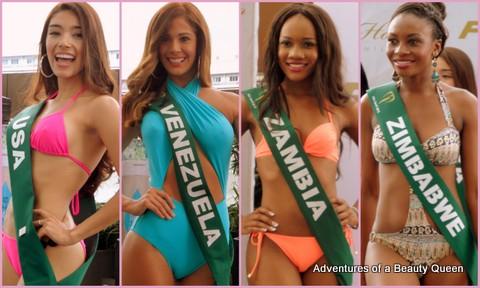 ABQ's Swimsuit Favorites - USA's Nicolle Velez, Venzuela's Alyz Henrich, Zambia's Atieno Kabwe, Zimbabwe's Samantha Dika