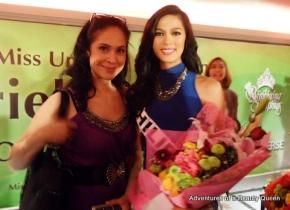 Ariella Arida, Miss Universe Philippines 2013 with blog author Joyce Burton Titular