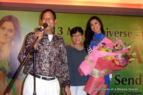 Ariella Arida with Mom and Dad. They MUST be so proud with their daughter shining the way she did in Russia!