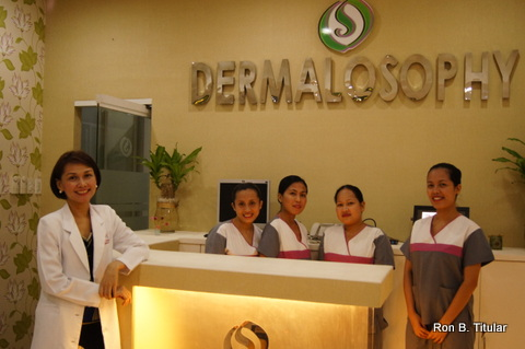 Dr. Shae Raymundo and her staff at Dermalosophy. The clinic is now open as a drop-off center for donations for victims of typhoon Yolanda