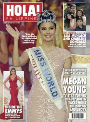 Hola November 2013 Cover featuring Megan Young