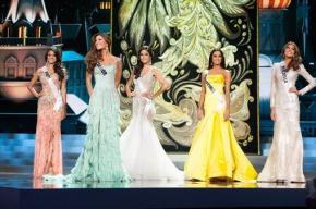 Jakelyne Oliveira ( Brazil), Constanza Baez (Ecuador), Patricia Yurena Rodriguez (Spain), Ariella Arida (Philippines) and Gabriella Isler (Venezuela)