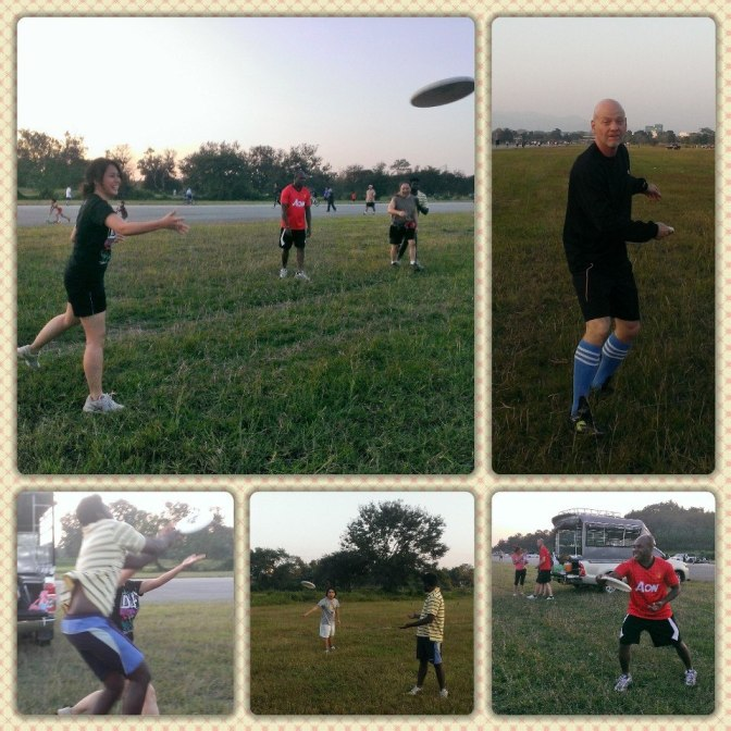 MediaLight takes fitness seriously! Every afternoon at 530 the students (and us teachers) go to the old Chiangrai Airport to play Frisbee until the sun goes down...
