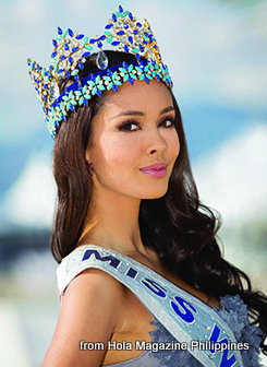 Megan Young, Miss World 2013. Photo from Hola Magazine Philippines