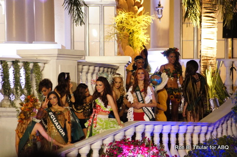 2. The Miss Earth 2013 contestants waiting for the opening number to start!