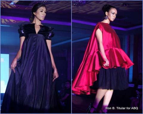 4) Designer JAMES REYES - L-R  Reyna Mae, Miss Baguio