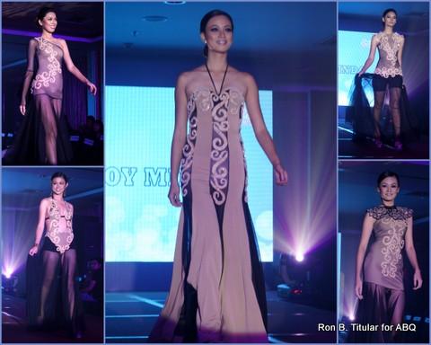 5) Designer SONNY BOY MINDO - Five La Bulaquena beauties modeled his creations.