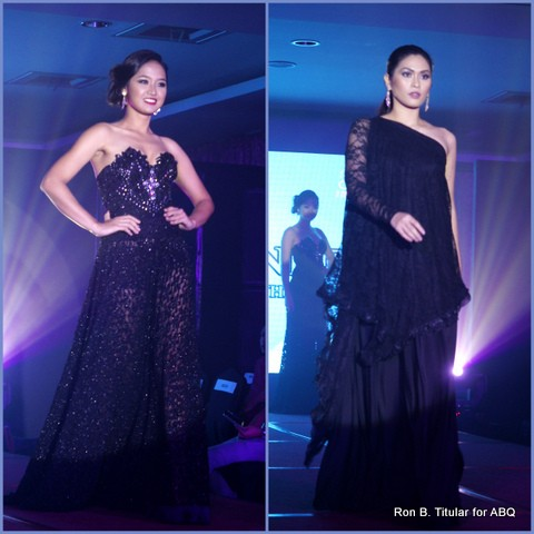 7) Designer MIKEE ANDREI - Left - a Bb. Pilipinas finalist and Right -  a Miss Philippines Earth Eco-Tourism winner