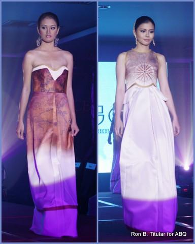 8) Designer OZ GO, Fashion Institute of the Philippines - Left - Elizabeth Alindogan (Miss Tourism World Visayas), right -  Jamie Reyes (Miss Chinatown Phils Runner-up)