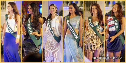 Some of the contestants as they were called forward as part of the Top 16 circle of Miss Earth 2013...