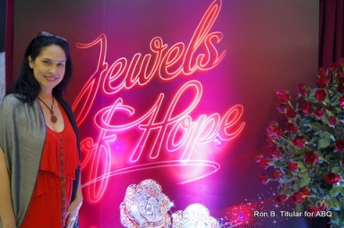 ABQ author at the Jewels of Hope launch by Metro Jewelry in Market! Market!