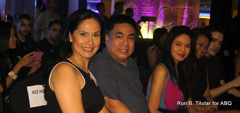 ABQ (left) with Pamboy (middle) and beauty-queen-turned-actress Maribel Lopez