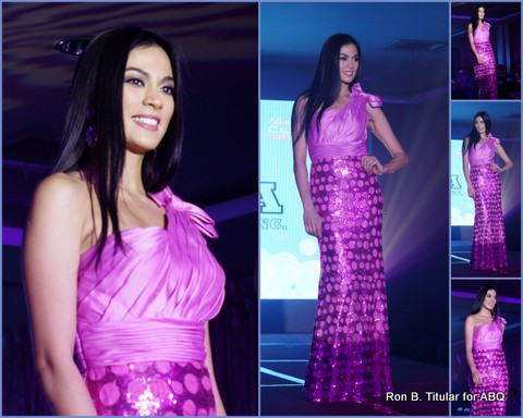 Ariella Arida, Miss Universe 2013 2nd Runner-up, in a Cumbia gown at Runway for Hope 2013... What a lovely vision in lavender!