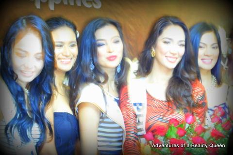 Bea Santiago (2nd from right) with... L-R Cindy Miranda, Czarina Gatbonton, Mutya Datul and Ariella Arida on the far right....
