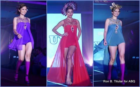Designer EDWIN UY - Left - Patricia  Fernandez (Bb. Pilipinas International 2008), Middle - MJ Lastimosa (Bb. Pilipinas 2011 2nd RU), Right - Toni Hipolito (Bb. Pilipinas 2008 Finalist)