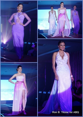 Designer JONTIE MARTINEZ - Top Right - April Love Jordan (Winner 2009 International Beauty and Model Festival), Chloe McCully (Miss World Philippines 2011 2nd Princess,  Bottom Right - Ellore Punzalan (Bb. Pilipinas 2013 Finalist)