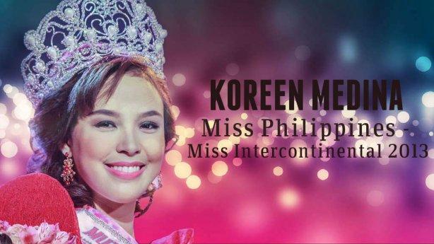 Koreen Medina, congratulations for your fabulous 3rd Runner up Finish in Miss Intercontinental 2013!