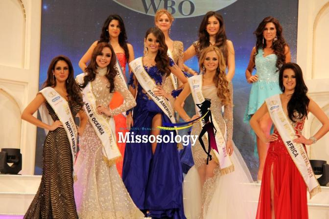 Koreen Medina is in the silver gown, 2nd to the left... She is indeed one of the stand-out beauties in Miss Intercontinental 2013!