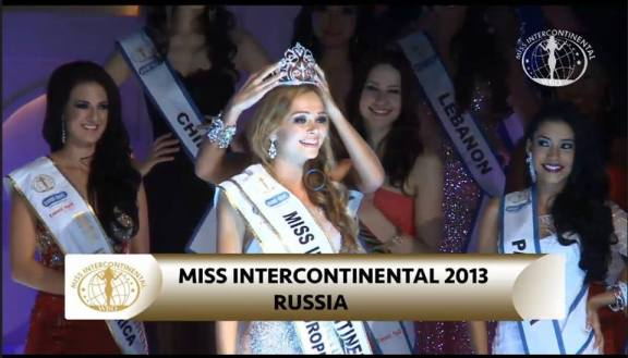 Miss Russia's crowning moment!