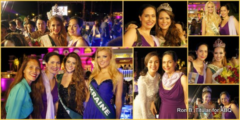 Post-pageant celebration! Miss Earth 2013... Top left photo is me with Venezuela, top middle with Katia Wagner of Austria