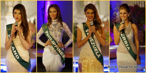 The next four Miss Earth 2013 contestants during the Q and A...