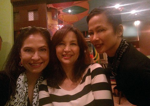 ABQ with Peachie Sacasas Alimurong (middle) and Izza Gonzales Agana (right)!