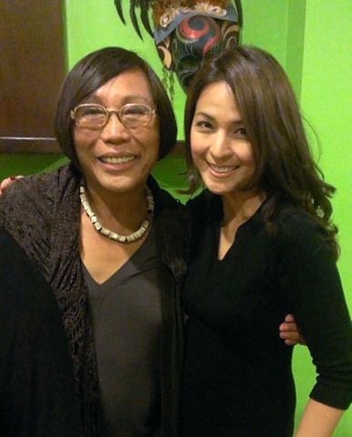 Bday celebrant Mama Renee Salud with Gladys Duenas who looks prettier than ever!
