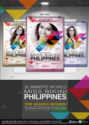 Miss Bikini Philippines 2014 poster announcing the search