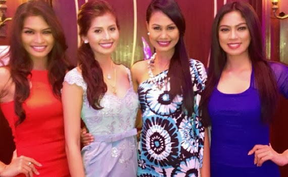 Left to right - Janine Tugonon, Shamcey Supsup, Venus Raj and Ariella Arida - top performers in Miss Universe since 2010
