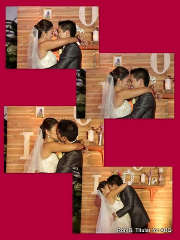 13) Miriam Quiambao and Ardy Roberto's wedding kiss!